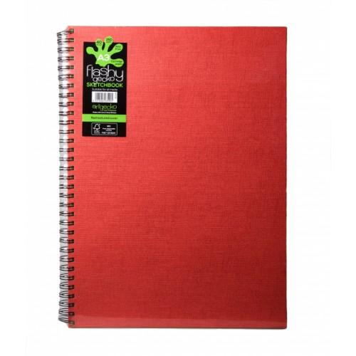 Flashy Gecko Sketch Book A3 Red