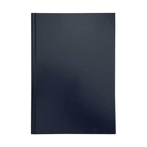 Hardback Note Book A4 8mm Feint  Margin Blue M01038