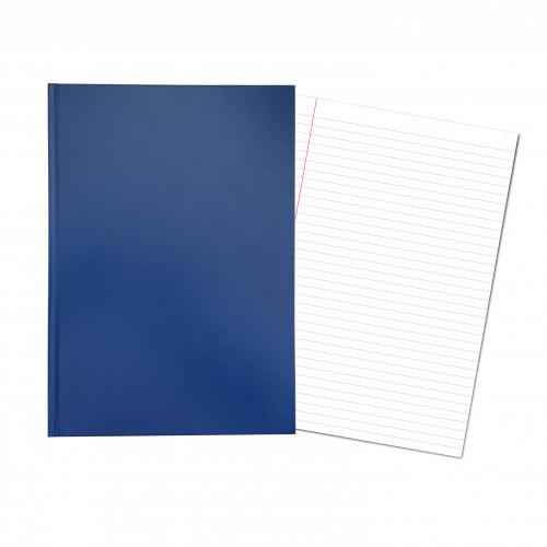Hardback Laboratory / Maths Book A4 Alternate 8mm Feint & Margin & Graph 2/10/20mm Ruling Light Blue