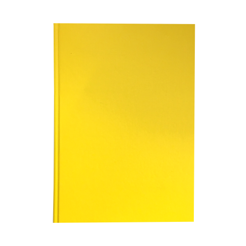 Hardback Note Book A4 8mm Feint  Margin Yellow