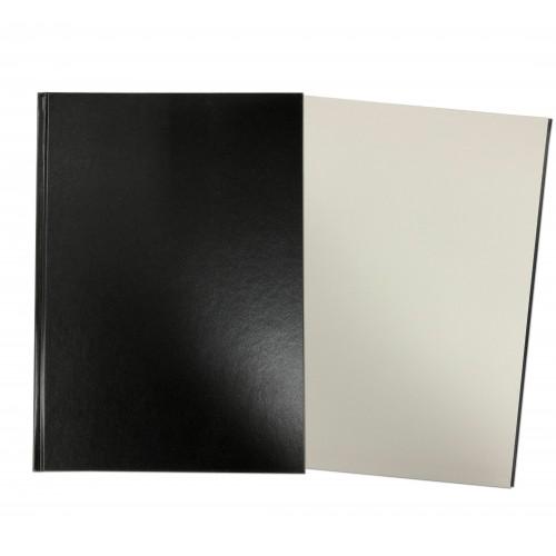 Hardback Sketch Book A4 Portrait Black SBCA4PPB