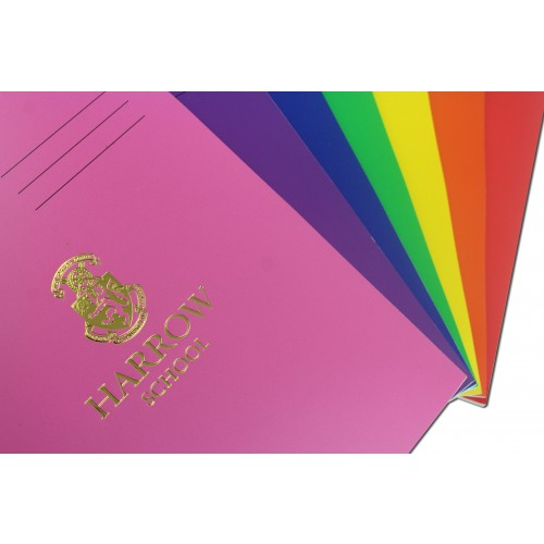 Laminated Exercise Books A4 80 Pages 8mm Feint  Margin Purple 400004555