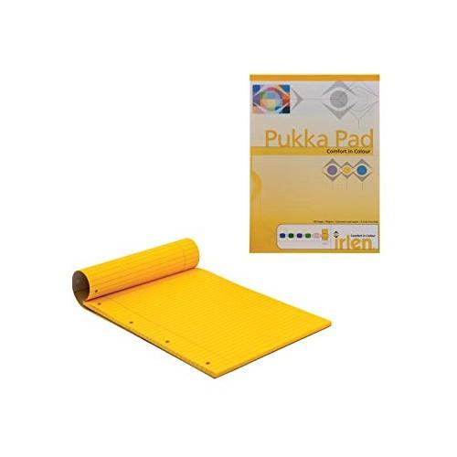 Irlen Coloured Refill Pad A4 8mm Feint & Margin Gold