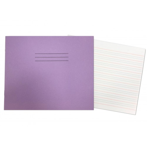 Handwriting Books 165 x 200mm 40 Pages 4mm Ruling / 16mm Ruling Purple
