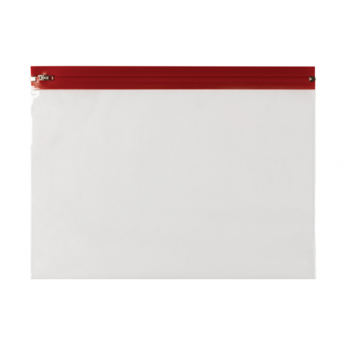 Zip Wallets 370mm x 255mm Red Pack 25
