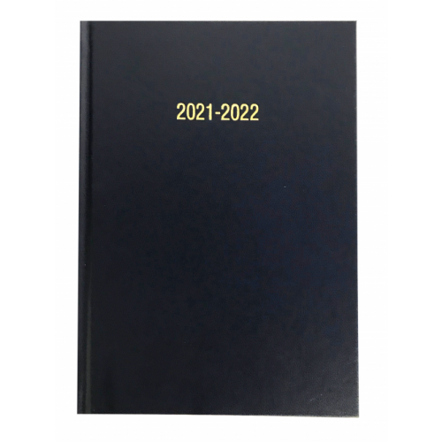 A5 Academic Diary Page A Day Navy Blue 2021/22