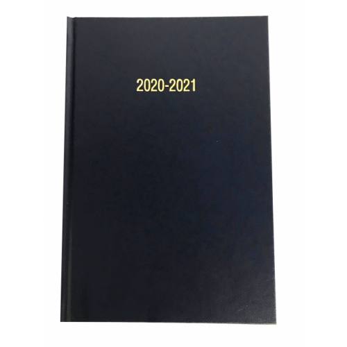 A5 Academic Diary Page A Day Navy Blue