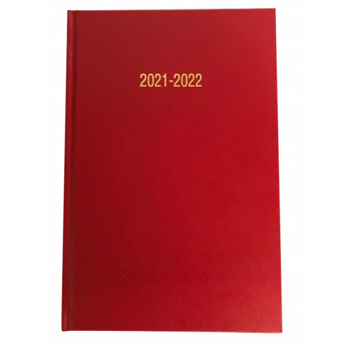 A5 Academic Diary Week To View Bright Red 2021/22