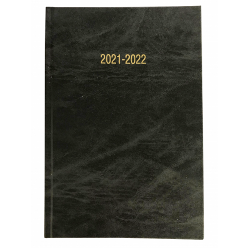 A5 Academic Diary Week To View Charcoal Grey 2021/22