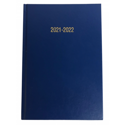 Academic Year Diary A5 Week To View Royal Blue 2021/22