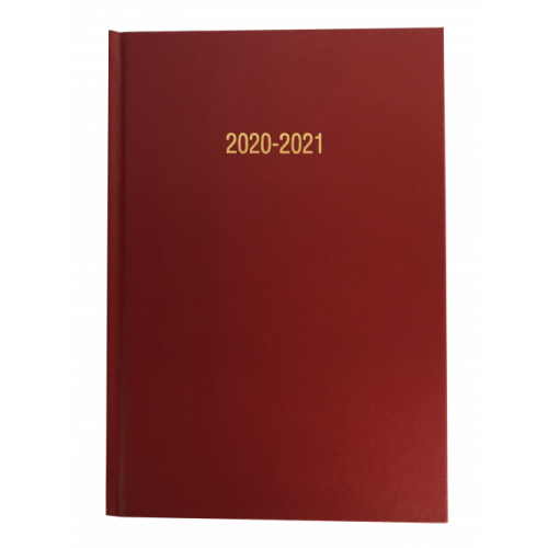 Academic Diary A5 Page A Day Burgundy