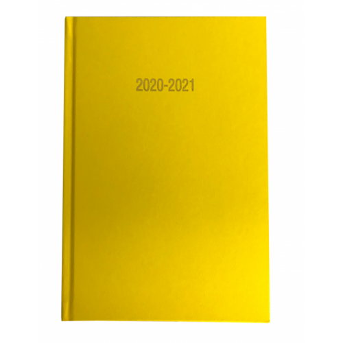 A5 Academic Diary Week To View Yellow