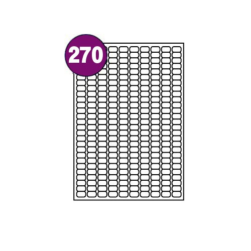 Inkjet And Laser Labels A4 270 Labels Per Sheet Box 100s