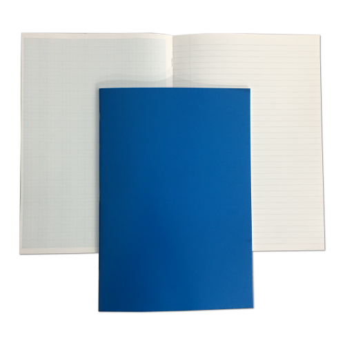 Laboratory Books Laminated A4 64 Pages 8mm Feint Margin Alternative Graph 1/5/10mm Blue
