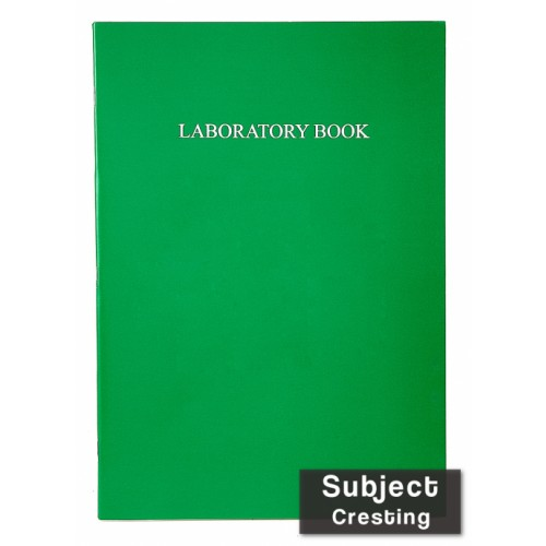 Laboratory Book Laminated  A4 64 Pages 8mm Feint Margin Alternate Graph 1/5/10mm Green