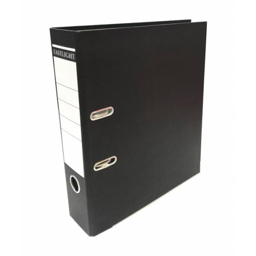 Linen Lever Arch Files A4 Black