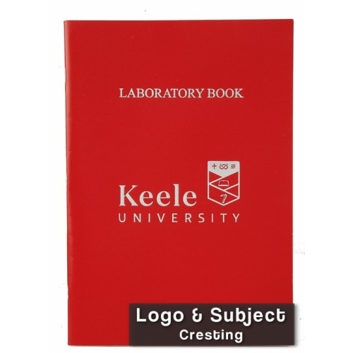 Laboratory Books Laminated  A4 64 Pages 8mm Feint Margin Alternative Graph 2/10/20mm Red