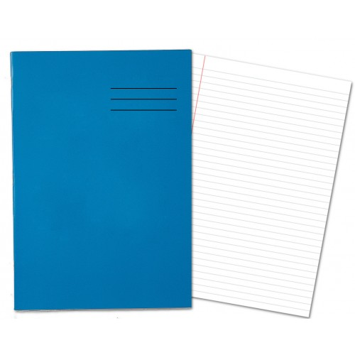 Laminated Exercise Books A4 80 Pages 8mm Feint  Margin Dark Blue 400004551