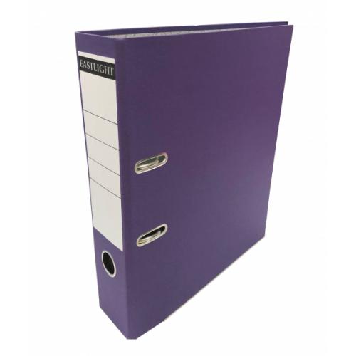 Linen Lever Arch Files A4 Purple