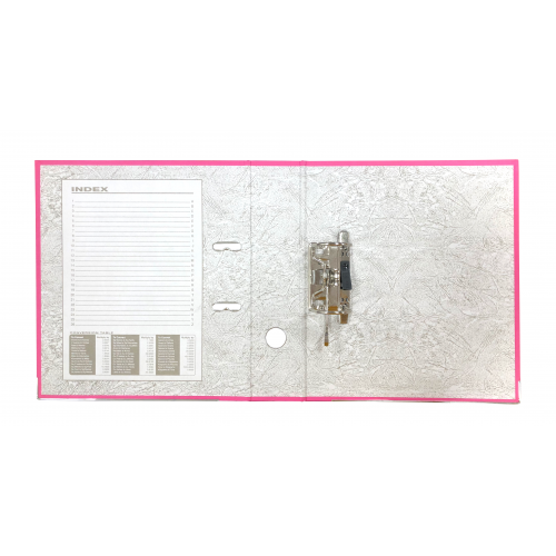 Linen Lever Arch Files A4 Pink