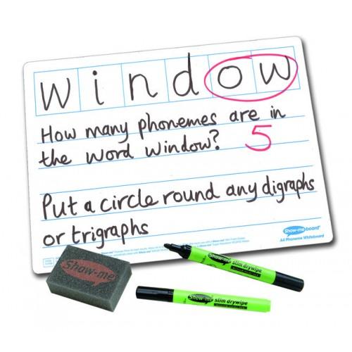 Show Me Drywipe Board Phoneme Frame 650 Microns Classpack Of 35 C/LPB6