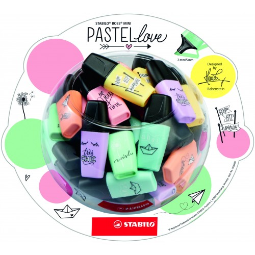 Stabil Mini Highlighters Pastel Assortement