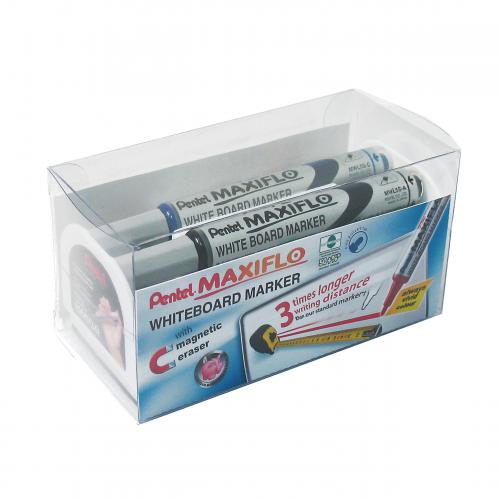 Pentell Maxiflo Whiteboard Marker Set
