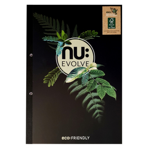 NU: EVOLVE A4 REFILL PAD 100 Pages Ruled 8mm Feint & Margin