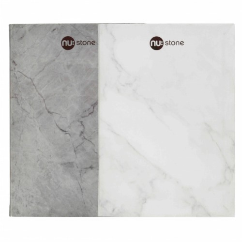 NU: A4 STONE STAPLED NOTEBOOK - Assorted Grey / White 60 Pages
