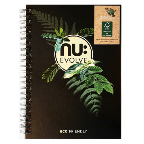 A4 NU: EVOLVE WIRO NOTEBOOK 120 Pages