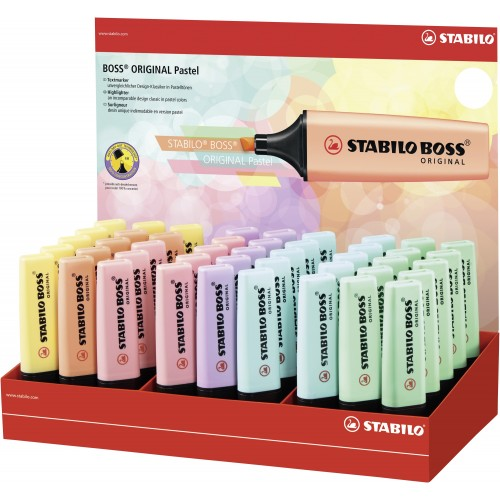 Stabilo Boss Pastel Coloured Highlighters Assorted Display Of 45
