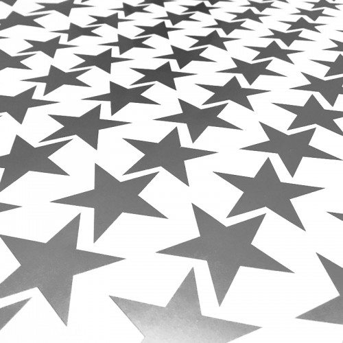 Self Adhesive Merit Stars Silver Pack Of 135