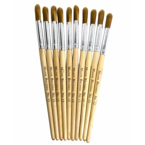 Nylon Stubby Brushes Size 12 Round