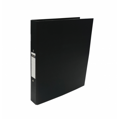 Linen Ring Binders A4 Black