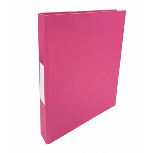 Linen Ring Binders A4 Pink