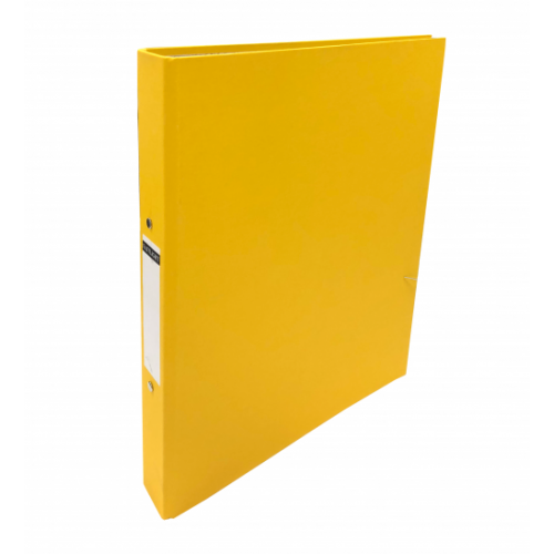 Linen Ring Binders A4 Yellow