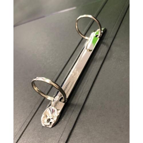 Elba Laminated Ring Binder A4, 40mm Spine, Light Green