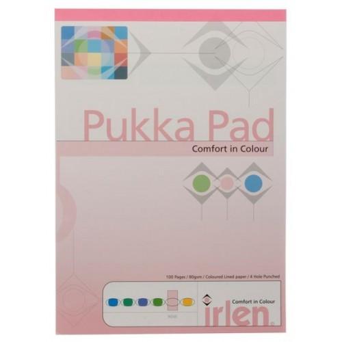 Irlen A4 Coloured Refill Pads Rose 8mm Feint & Margin