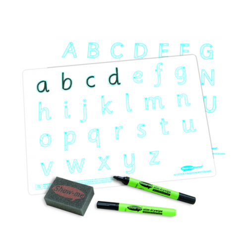 Show Me Drywipe Boards Letter Formation Pack Of 10