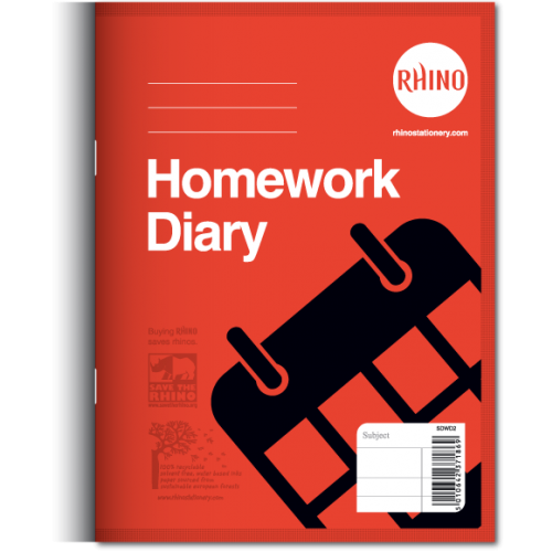 Home Work Diary 8'' x 5.75''  5 Days 84 Pages Red SDWD2