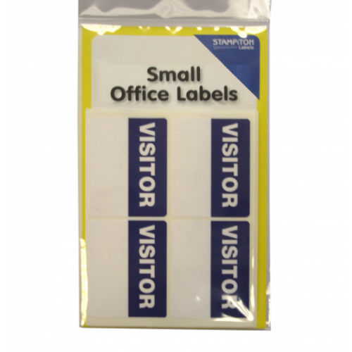 Small Packs Office Labels Vistors Label Pack 16s