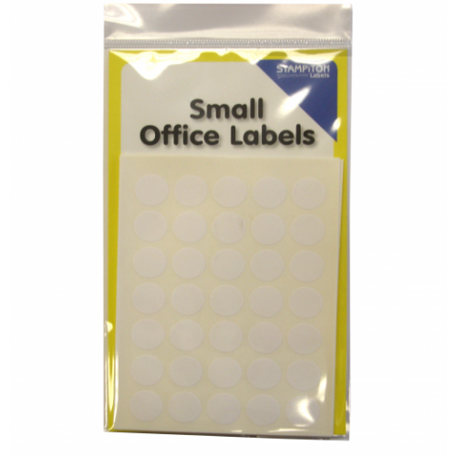 Small Packs Office Labels White Circles 13mm Pack 245s