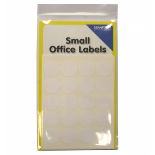 Small Packs Office Labels White Circles 19mm Pack 140s