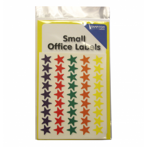 Small Packs Office Labels Coloured Stars 13mm Assorted Pack 180s