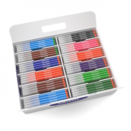 Swash Colouring Pens Broad Assorted 300 In A Class Tray
