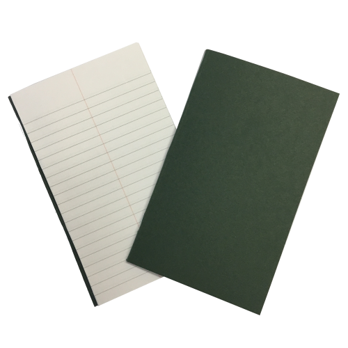 Vocab Books 6.25'' x 4''48 Pages 6mm Feint With Centre Margin Green