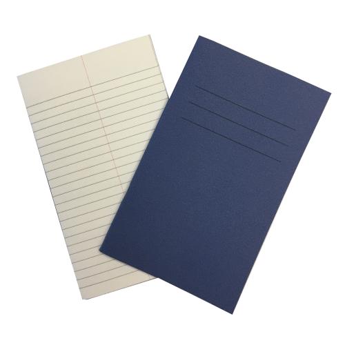 Vocab Books 6.25'' x 4'' 48 Pages 6mm Feint With Centre Margin Blue