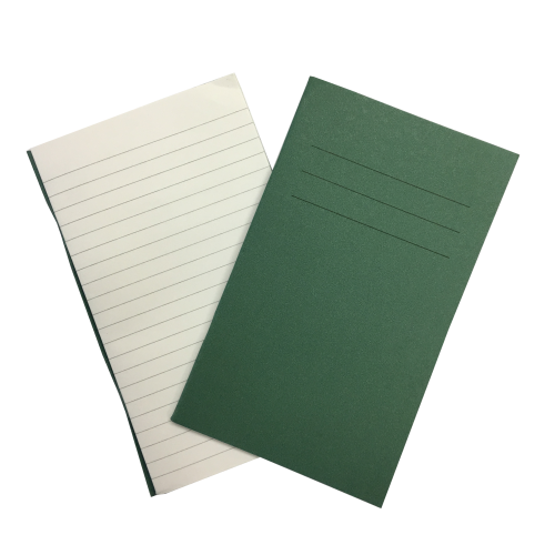 Vocab Books 6.25'' x 4'' 80 Pages 7mm Feint Ruled Green