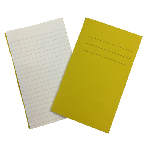 Vocab Books 6.25'' x 4'' 80 Pages 7mm Feint Ruled Yellow