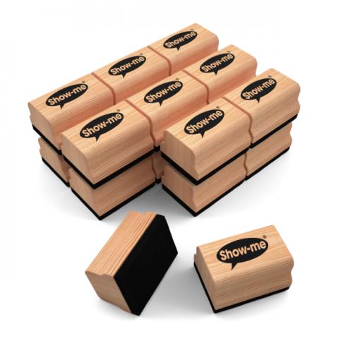 Show Me Mini Wooden Handle Erasers Classpack Of 30